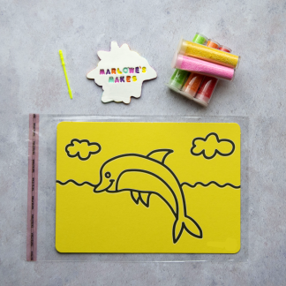 A5 Dolphin Take Home Sand Art Pack