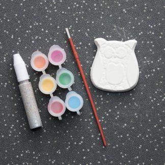 Mini Owl Pottery Set