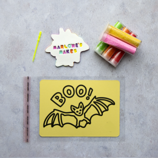 A6 Bat Take Home Sand Art Pack