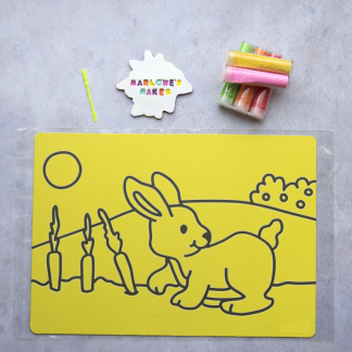 A4 Rabbit Take Home Sand Art Pack