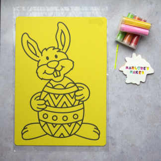 A4 Easter Buny Take Home Sand Art Pack