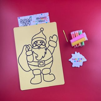 Waving Santa Sand Art Home Kit