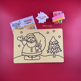 Santa Scene Sand Art Home Kit