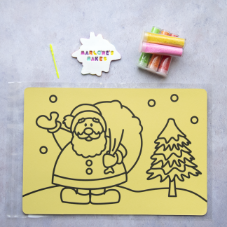 A4 Santa Scene Take Home Sand Art Pack