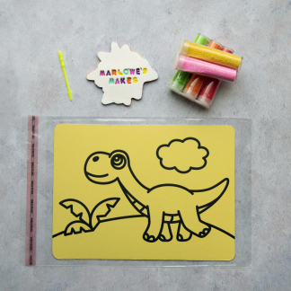 A5 Dinosaur Take Home Sand Art Pack