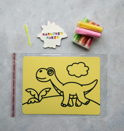 A5 Dinosaur Take Home Sand Art Pack
