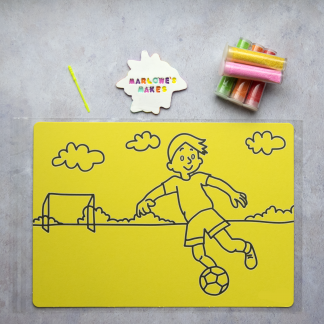 A4 Footballer Take Home Sand Art Pack