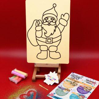 Waving Santa Sand Art Home Kit