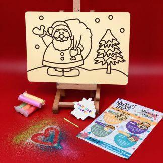 Santa Scene Sand Art Home Kit