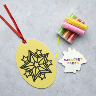 Large Star Sand Art Christmas Pack