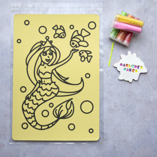 A4 Mermaid Take Home Sand Art Pack