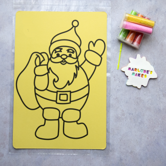 A4 Waving Santa Take Home Sand Art Pack