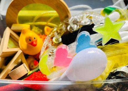 Yellow sensory box