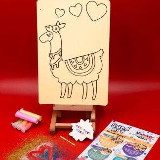 Llama Sand Art Home Kit