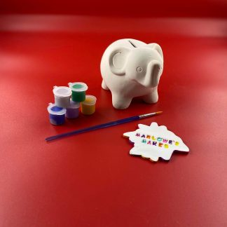 Elephant Pottery Kit – Paint Your Own Ceramic