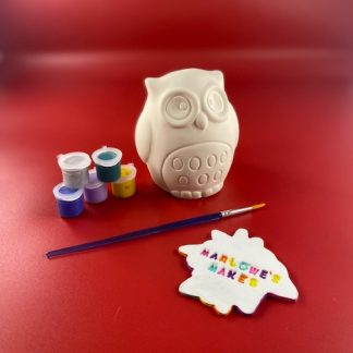 Owl Pottery Kit – Paint Your Own Ceramic