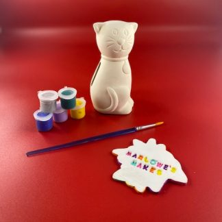 Cat Pottery Kit – Paint Your Own Ceramic