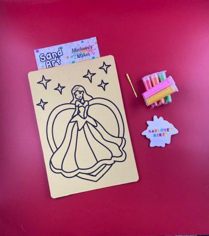 A4 Princess sand art