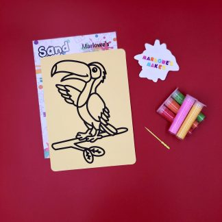 Toucan Sand Art Home Kit