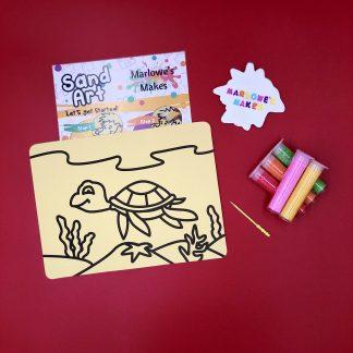 Turtle Sand Art Home Kit