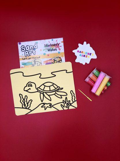 Turtle Sand Art Kit