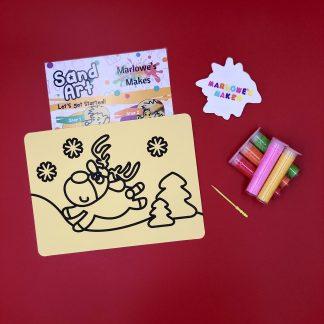 Christmas Reindeer Sand Art Home Kit