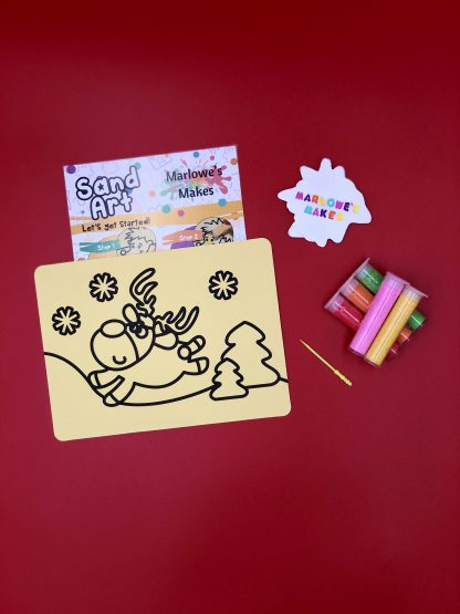 Christmas Reindeer Sand Art Kit
