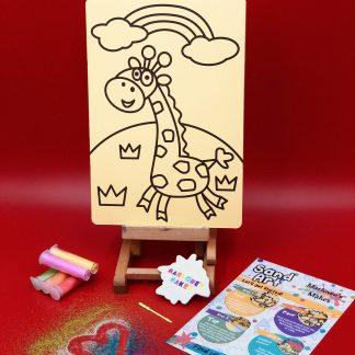 Giraffe Sand Art Home Kit