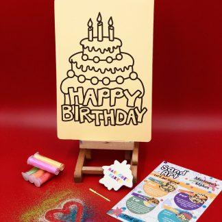 Happy Birthday Sand Art Home Kit