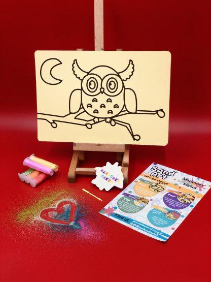 Owl Sand Art Home Kit