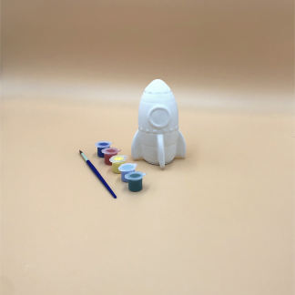 Rocket Pottery Kit – Paint Your Own Ceramic