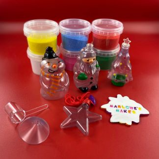 Christmas Sand Art Bottle Craft Set