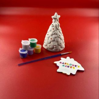 Christmas Tree Pottery Kit – Paint Your Own Ceramic