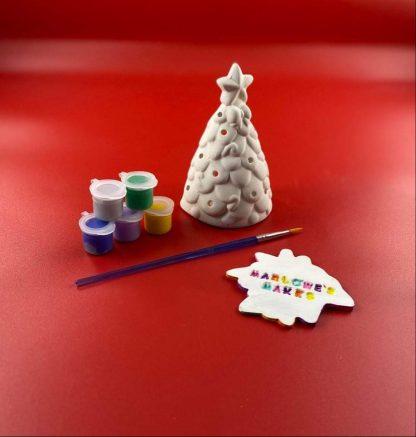 Christmas tree pottery kit