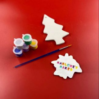 Christmas Tree Decoration Pottery Kit – Paint Your Own Ceramic
