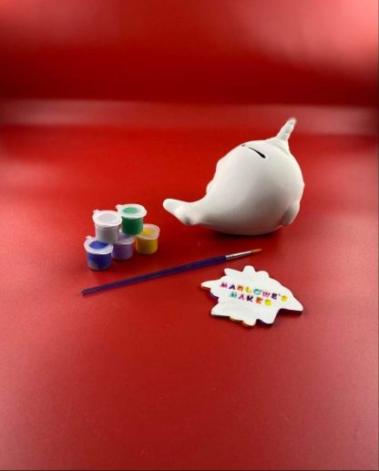 Narwhal paint your own pottery