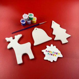 Christmas decoration pottery kit
