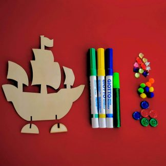 Make Your Own 3D Pirate Ship Craft Kit