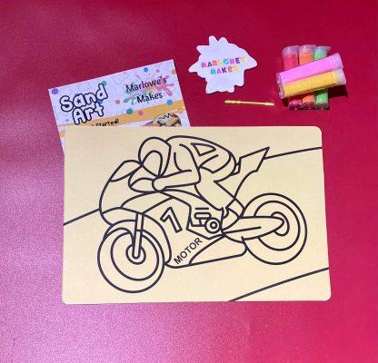 Motorbike Sand Art