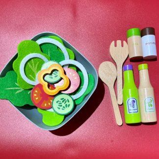 Wooden Salad Role Play Set