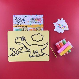 Dinosaur Sand Art