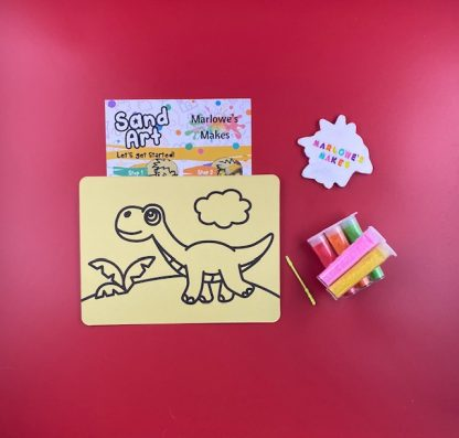 Dinosaur Sand Art Home Kit