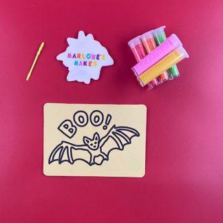 Bat Sand Art