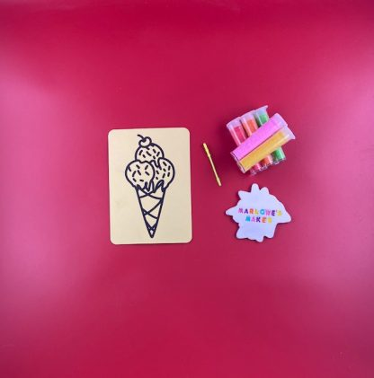 Ice Cream Sand Art