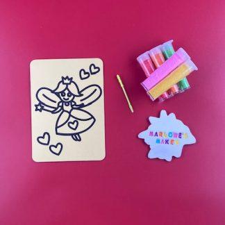 A6 Fairy Sand Art