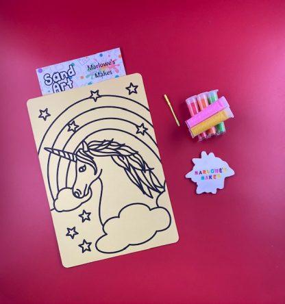 Unicorn Sand Art